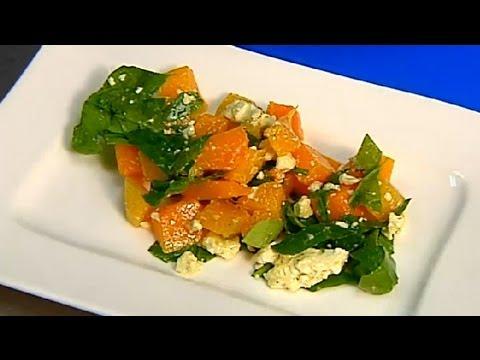 Pumpkin, Spinach & Feta Salad : Healthy Salad Recipes