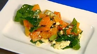 Pumpkin, Spinach & Feta Salad : Healthy Salad Recipes