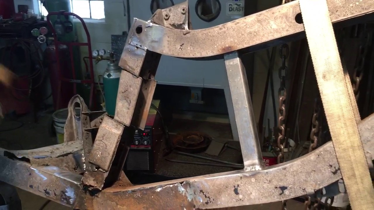 1973 triumph tr6 frame repair - right trailing arm removal - youtube