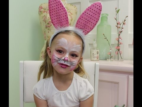 Easy Bunny Face Paint Tutorial YouTube