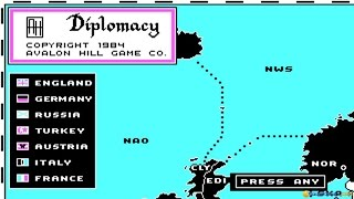 Computer Diplomacy gameplay (PC Game, 1984)