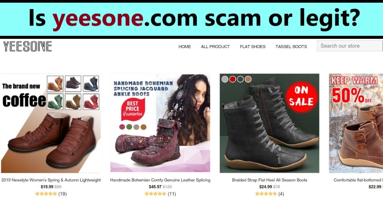 Yeesone Boots , scam or legit shop? My review about yeesone.com!