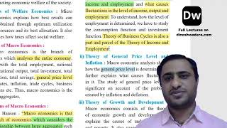 Lecture 7 - Introduction to Micro Economics and Macro Economics - Part 7 - 12th Commerce