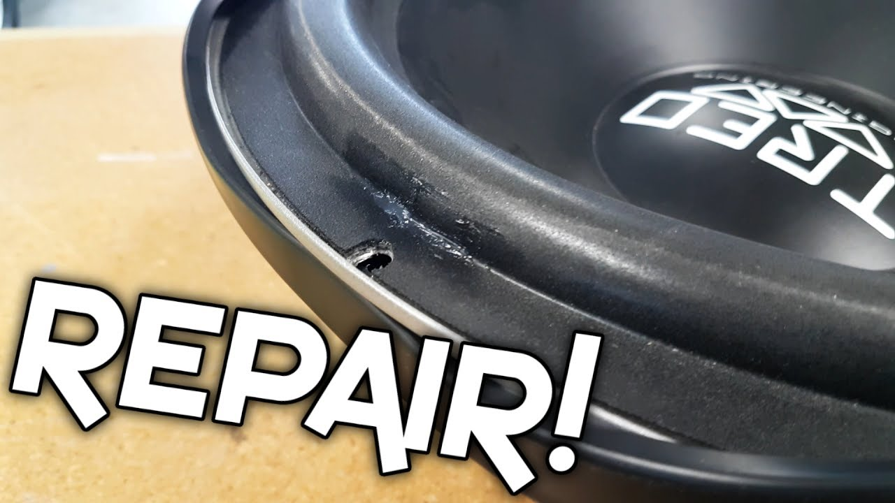 HOW TO REPAIR A SUBWOOFER SURROUND! - YouTube