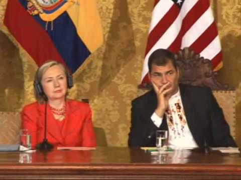 Secretary Clinton Joint Press Conference With Ecuadorian Pre