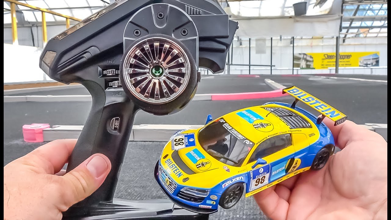 Omtalade RC car AUDI R8 gets unboxed, tuned and tested! Kyosho Mini-Z VW-12