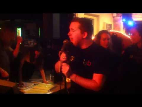 Adrian sings at glee karaoke ambush