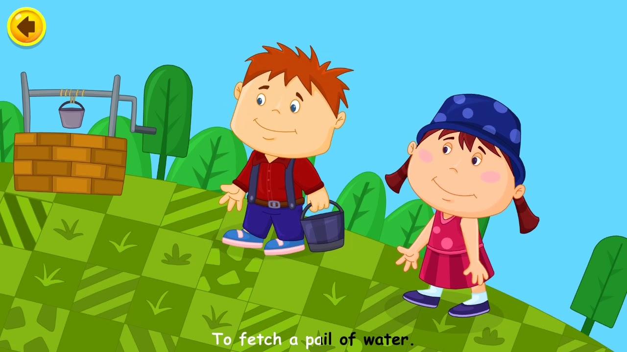 Kids Songs Jack And Jill Nursery Rhyme Video Sing Along With Lyrics