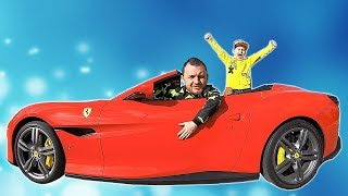 Ride on Ferrari Cabrio with Papa | Cars Adventures with #timkokid