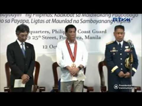 President Duterte at 115th Philippine Coast Guard Anniversary 10 12 2016