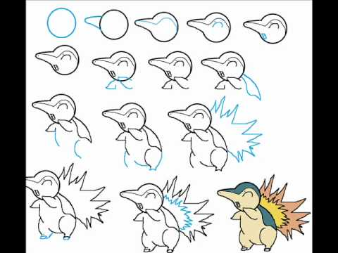 How To Draw Cyndaquil The Pokemon Step By Step Drawing ...