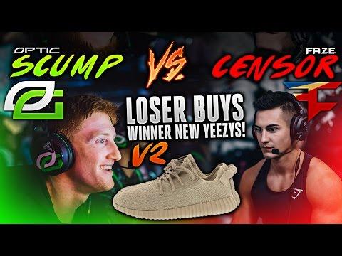 OpTic Scump vs. FaZe Censor - 1v1 (Loser Buys Winner NEW Yeezy's) V2