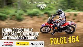 HONDA CRF250 Rally Testbericht - Offroad in Brandenburg - Motorradreise.TV Folge #54