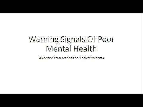 Warning Signals of Poor Mental Health