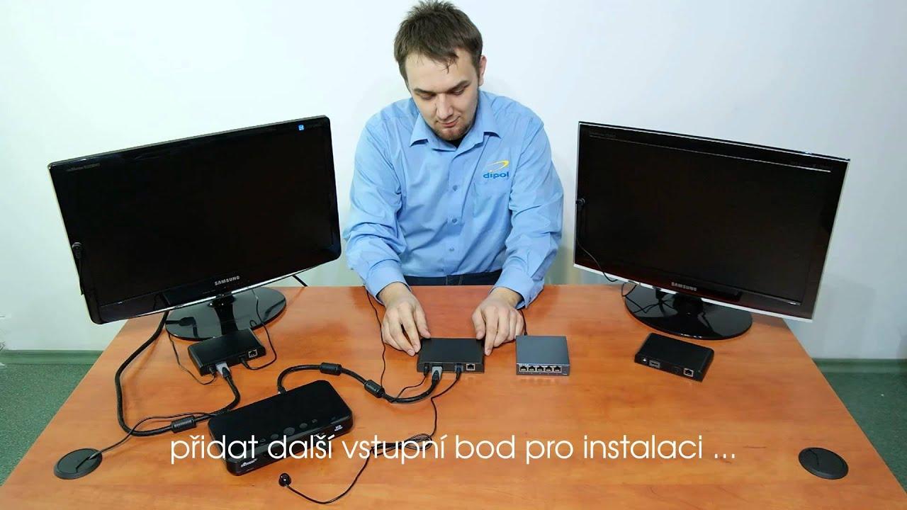 Připojte 3 monitory