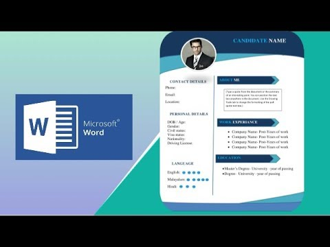 Resume Design Tutorial In Microsoft Word | Resume Designing