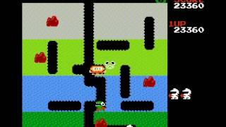 Dig Dug - The Hard Dig Dug NES (level 10) - User video