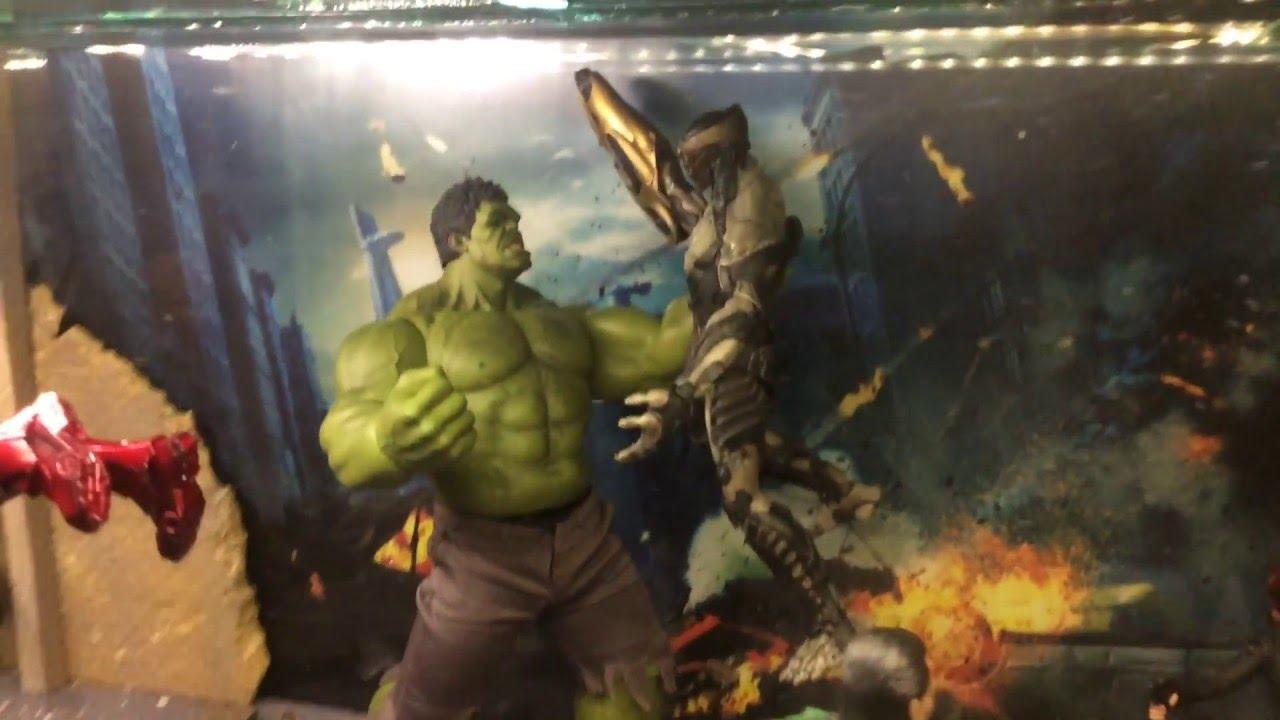 Avengers diorama Hot Toys 16 scale YouTube