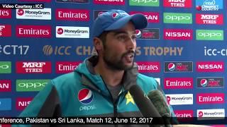 Mohammad Amir - Post Match Press Conference, Pakistan vs Sri Lanka, Match 12, June 12, 2017