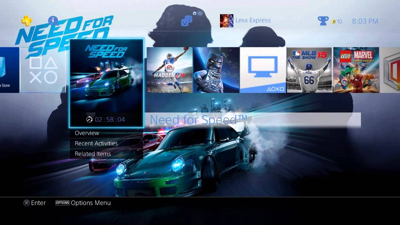 unboxing need for speed psn preorder exclusive special ps4 theme youtube. Black Bedroom Furniture Sets. Home Design Ideas