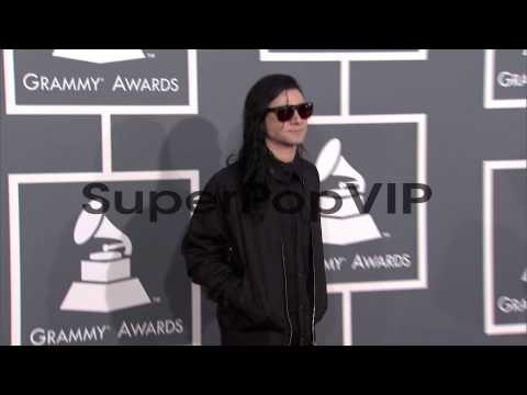 Skrillex at The 55th Annual GRAMMY Awards - Arrivals 2/10...
