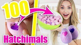 Ich öffne 100 Hatchimals - Was ist drin? CRAZY SPIELZEUG TEST | XLAETA