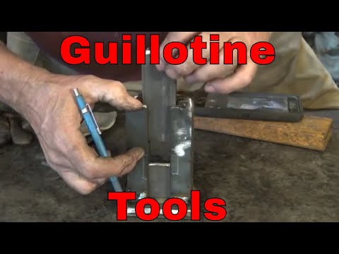 The Guillotine tool or Smithing Magician.  -  blacksmithing tools