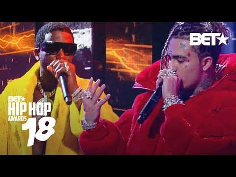 lil-pump-performs-gucci-gang-w/-gucci-mane!-|-hip-hop-awards-2018