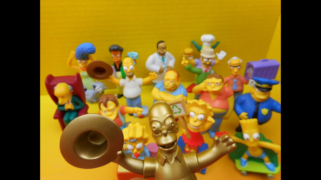 2007 Burger King S The Simpsons Movie Toys Set Of 16 Video Review Youtube