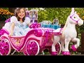 Disney Princess Royal Horse and Carriage Ride-On Toy by Huffy