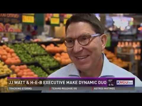 J.J. Watt, HEB Executive Make Dynamic Duo