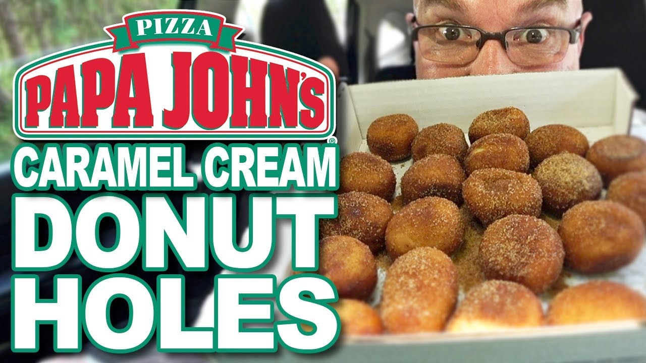 Papa John's ???? Caramel Cream Filled Donut Holes ????