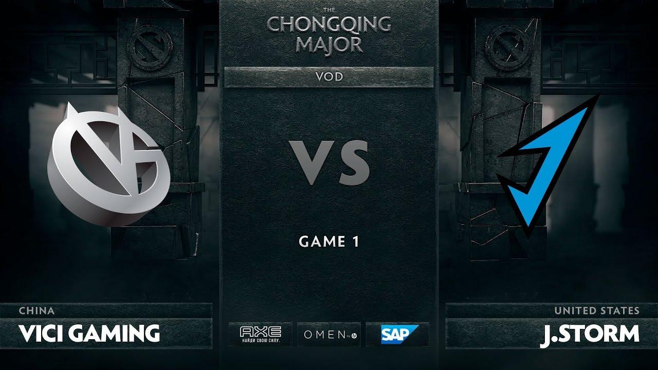 [RU] Vici Gaming vs J.Storm, Game 1, The Chongqing Major Group C