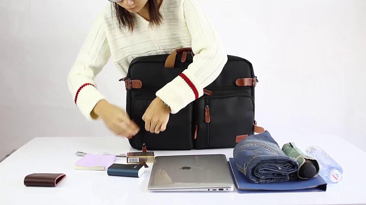 c5ffd016f4aa CoolBELL Convertible Backpack Messenger Bag Shoulder bag Laptop Case Handbag