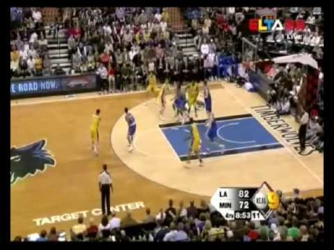Darko Milicic vs Lakers (2009-10 NBA regular season)