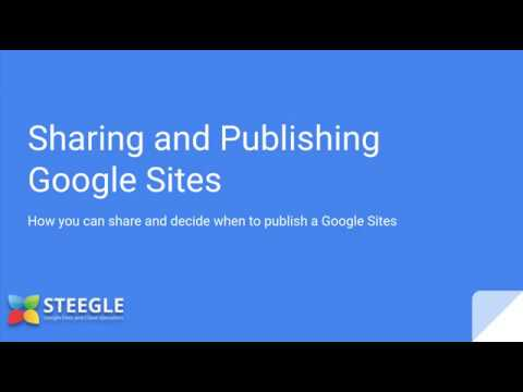 Sharing and Publishing - new Google Sites