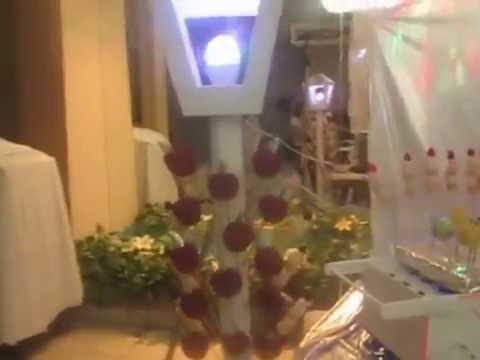 Mesa de dulces para xv a os tem tica disco youtube for Mesa de dulces para 15