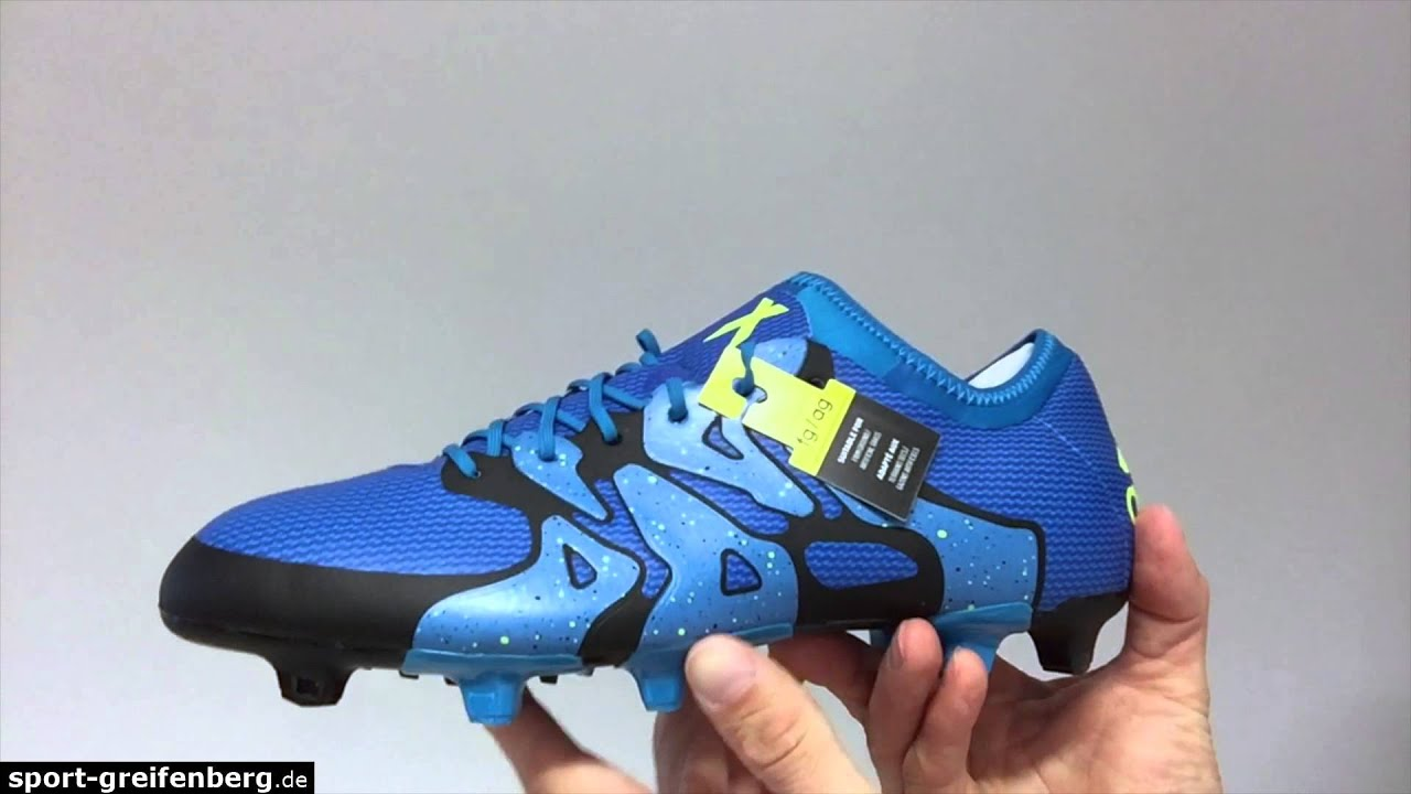 online retailer 400a7 f6699 Adidas X 15.1 FG AG solar blue (Techfit) Robben, Alaba