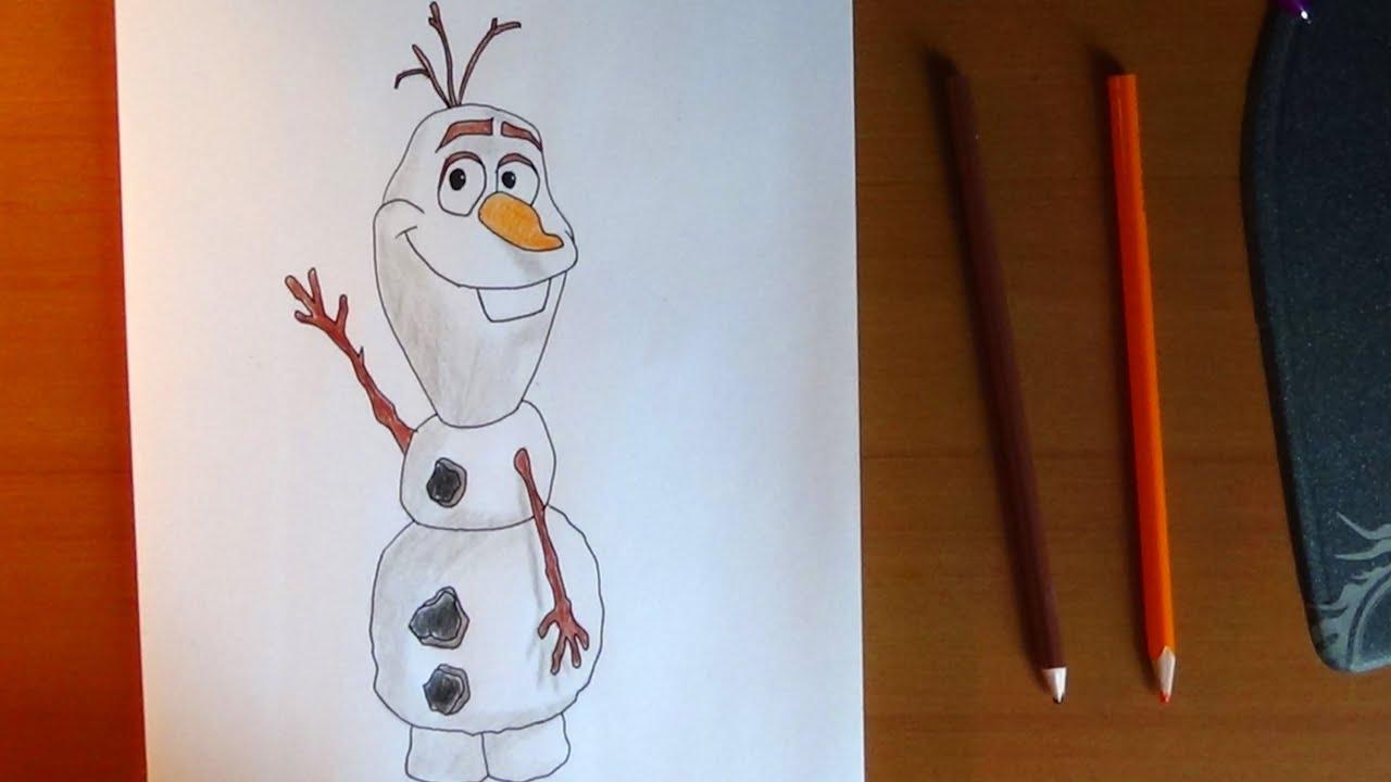 How to draw Olaf from Frozen, Como dibujar a Olaf de Frozen, Как ...