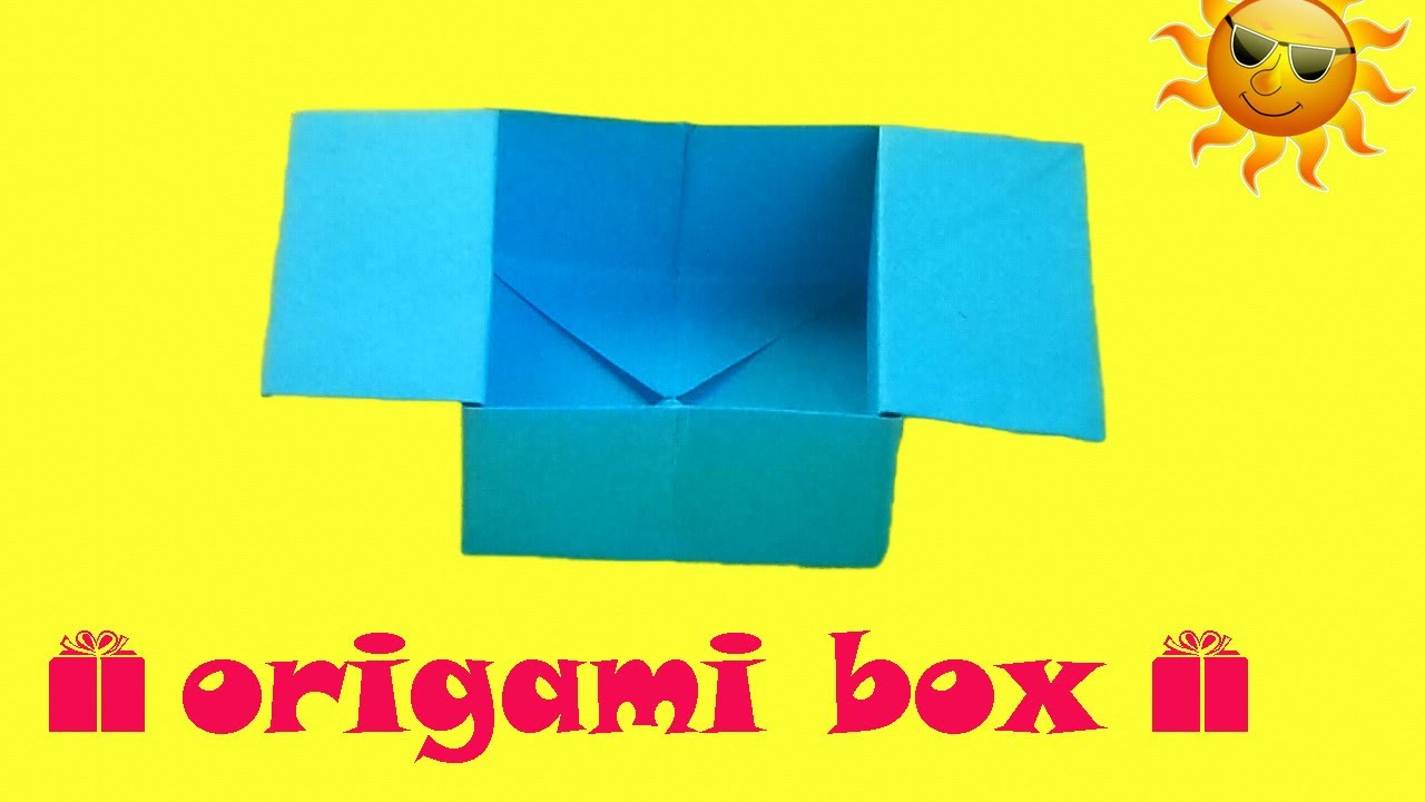Origami Hinged Gift Box Tutorial  Paper Kawaii  YouTube