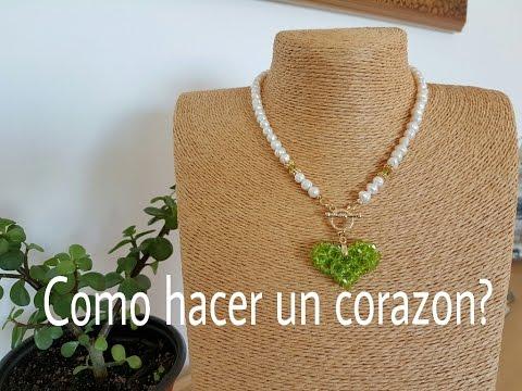 a111fdc33567 CORAZON CON CRISTALES!! Con Cecy Love Bisuteria. - YouTube