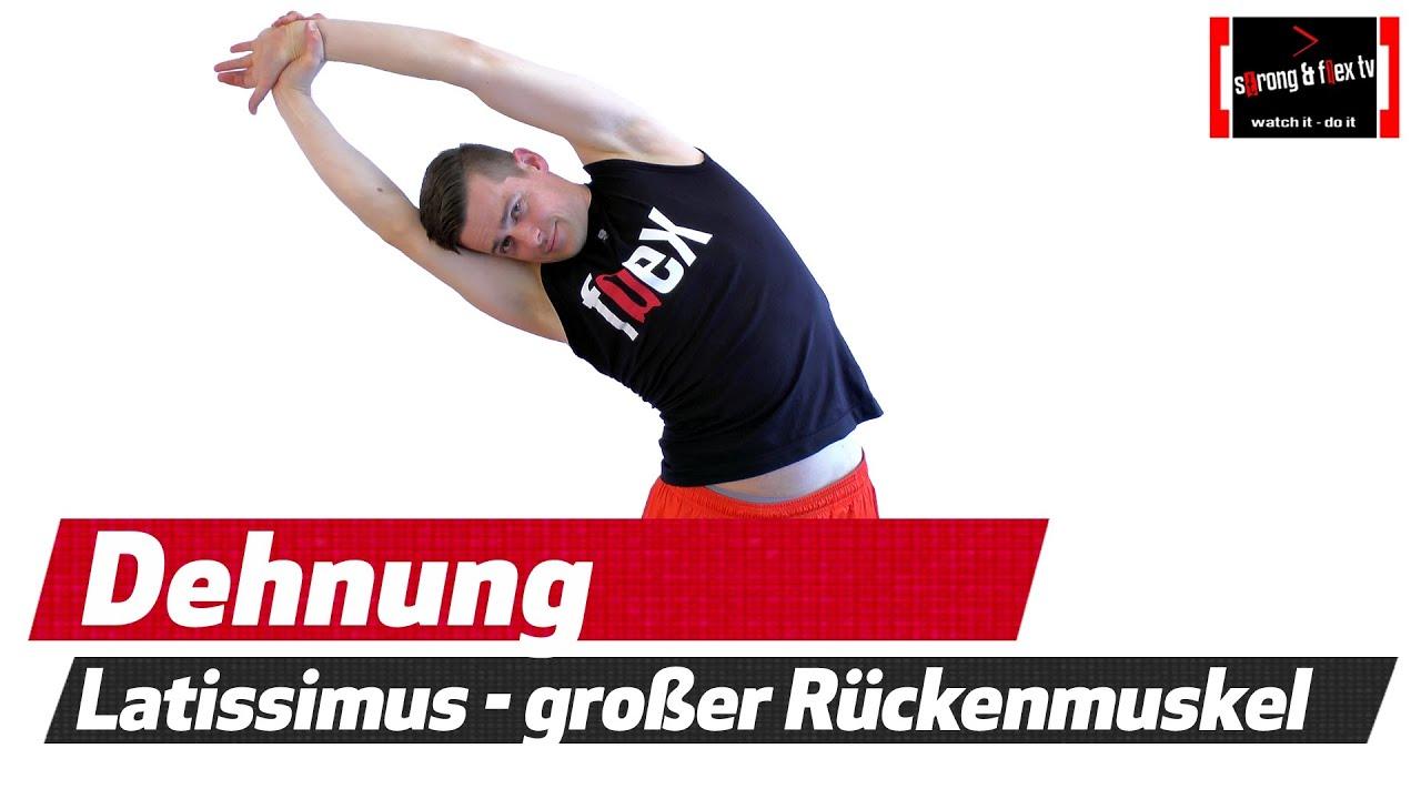 Latissimus dehnen - Rückenübungen - Shorty #11 - YouTube