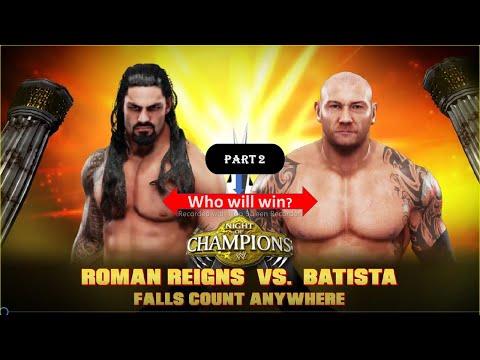 WWE 2K19  PC GAME PLAY,ROMAN REIGNS VS BATISTA FALLS COUNT ANYWHERE MATCH PART 2 ,FULL HD PC GAME... thumbnail