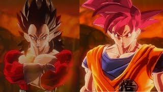Super Saiyan 4 Vegeta vs Super Saiyan God Goku | Dragon Ball Xenoverse