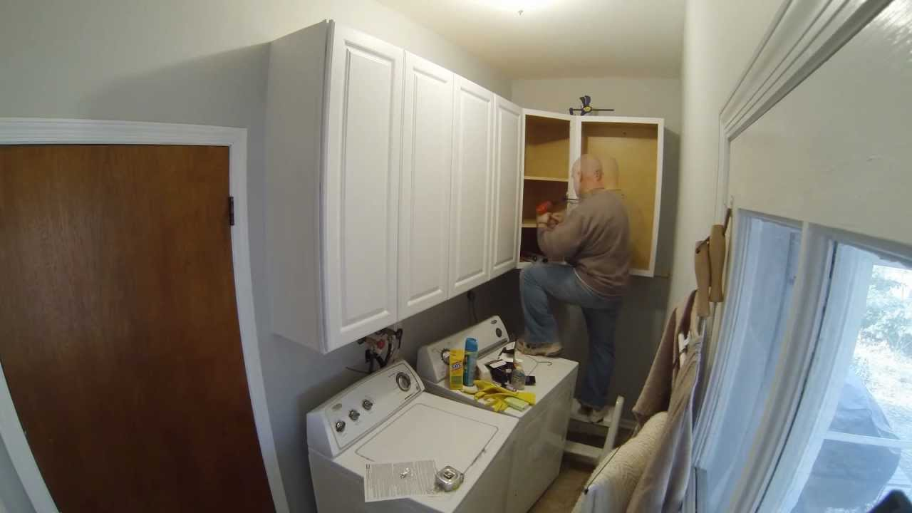How To Install Wall Cabinets In Laundry Room