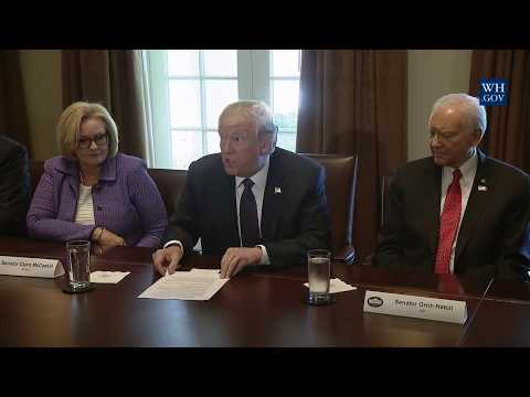 President Trump Participates in a Meeting with the Senate Finance Committee