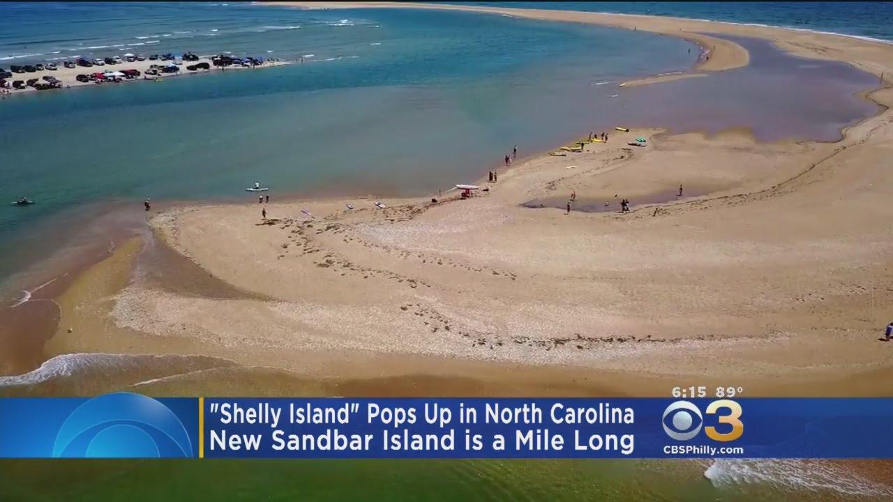shelly island pops up in north carolina youtube