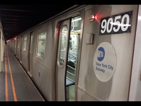 BMT Broadway Line: Queens & Downtown Bound R46 & R160 (N) (Q) (R) (W) Trains @ 57th Street-7th Ave