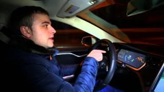 Тесла Модель С тест-драйв по МКАД от MANGO. Tesla Model S Тest-Drive in Moscow.