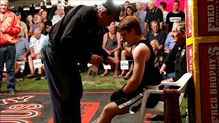 Matt Grant fights challenger - Outback Fight Club - Kilkivan 2015